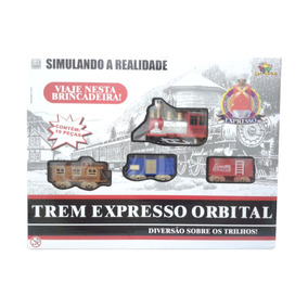 Brinquedo Trenzinho Trem Elétrico Movido Á Pilha Crianças