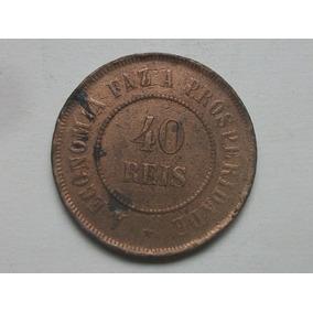 Moeda 40 Réis Bronze República 1897