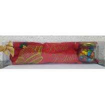 Natal Lembrancinha Kit 50pçs Toalha Bordada + Doce Confete