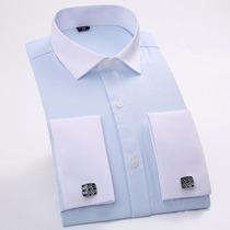 Camisa Vestir Mancuernillas Tallas Extras Cuello 18.5 2xl