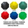 Sombrilla Extra Grande Automatica Colores Surtidos Publicida