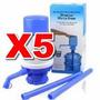 5 X Dispensador De Agua Para Bidones Botellas De 10 Y 20 Lt