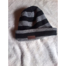 Gorro Maui And Sons Negro Con Gris