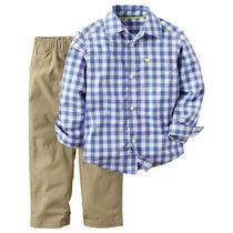 Pantalon De Jean Y Camisa Ropa De Bebe Carters Importado Usa