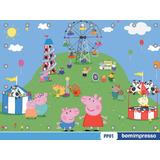 Painel Peppa Pig 2,00x1,50m Lona Festa Banner