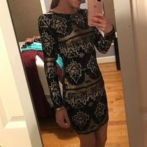Vestido Azteca De Lentejuelas Negro Importado Talla M