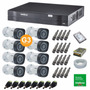 Kit 8 Câm Intelbras 1120b + Dvr Intelbras 1008 Hd 1 T K-0208
