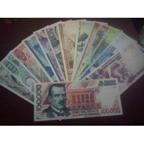 Seire A Y Aa 13 Billetes Mexicanos 5 Pesos A 100,000 Pesos!
