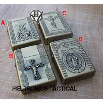 Encendedor A Bencina Dorado Jesus Ave Maria Varios Modelos!