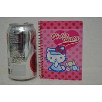 Libreta Diario Hello Kitty Espiral De Bolsillo
