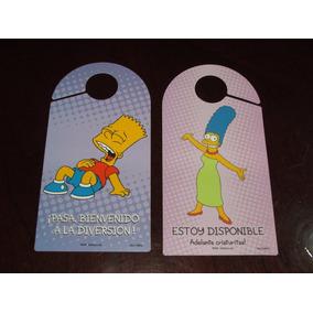 Los Simpson Letreros Para Perilla De Puerta Bart Marge