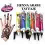 Henna Arabe Tatuajes Tatoo 100% Organica Mayoreo 10 Piezas