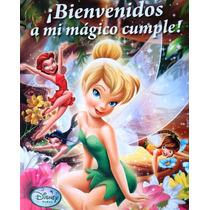 Combo Cotillon Campanita Tinkerbell 30 Niños Mantel Plato