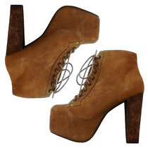 Botas De Mujer Borcegos Zapatos Calzado Urbano Dia Taco
