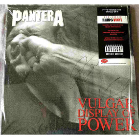 Vinil Pantera - Vulgar Display Duplo Autografado 3 Membros