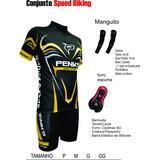 Conjunto Penks. Camisa + Bermuda Speed Biking + Manguito