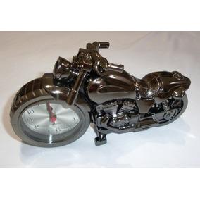 Relógio De Mesa Moto Analogico Detalhado Com Alarme Leilao *