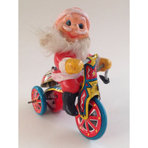 Triciclo De Chapa A Cuerda Papa Noel