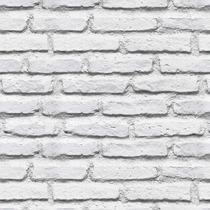 Papel De Parede Em 3d Tijolos Branco Antigo Vintage Mod.59