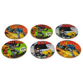 6 Porta Copos Mdf Batman Comics - Dc Comics Original