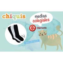 3 Pares Medias Colegial Elemento Algodon Niño Chiquis Bebes