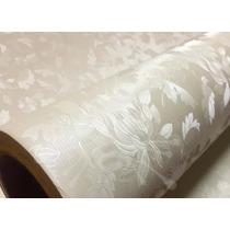 Adesivo Decorativo Papel Parede Floral Rose 3d - 1m X 60cm
