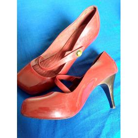 Sapato De Salto Alto Melissa Vermelho
