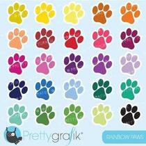 Kit Imprimible Huellas Perros Imagenes Clipart