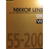 Lente Cámara Nikon Af-s 55-200