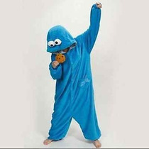 Kigurumi Pijama Mameluco Mounstruo Comegalletas Plaza Sesámo
