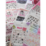 Lote 10 Sticker Decoracion Uñas 3d Colores Ydnis Maquillaje