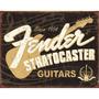 Fender Stratocaster 60th Letrero De Estaño 16 + Envio Gratis