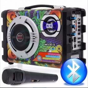 Caixa Som Portátil Amplificada Bluetooth Recarregavel Bateri