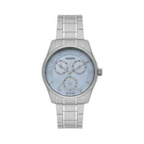 Relógio Feminino Orient Prata Fundo Azul Fbssm029 Oferta