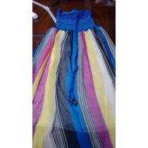 Vestido/ Pollera De Gasa