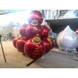 Esferas Navideñas Gigantes En Fibra De Vidrio Y Ornamentos