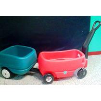 Carrito Vagon 2 Niños Y Carrito De Carga Step2 Precio Unico