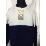 Sweater Nuevo De Lana Tejido A Mano Muy Abrigado