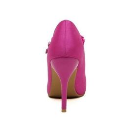 Scarpin Bico Fino Para Noivas Rosa Pink Calçados Importados