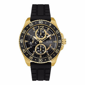 Reloj Guess W0798g3 Negro Dorado Para Caballero 100%original