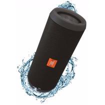 Caixa De Som Jbl Flip 3 Plus Preta Bluetooth Prova D