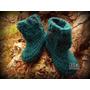 Pantuflas De Lana Crochet Artesanal. Talles 19/24