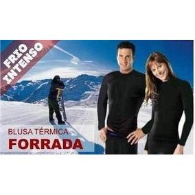 Conjunto Térmico Neve Blusa+calça Peluciado Brinde Meia Térm