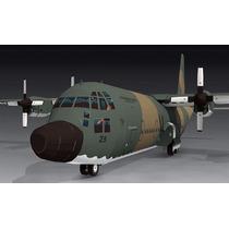 Avion Militar L-100-30 Hercules Para Armar En Papel