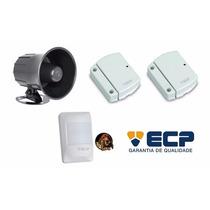 Kit Acessórios De Alarme Ecp Sirene + Magnéticos + Pet