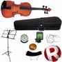 Violino Michael 4/4 Vnm40 + Estojo Espaleira Acessórios Nf