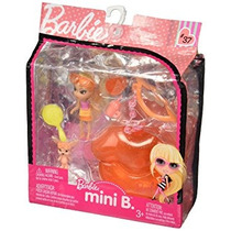 Juguete Barbie Mini B. #37 Doll With Orange Lips Case &