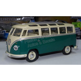 1:24 Volkswagen Bus 1962 Verde Kinsmart Combi Display