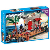 Kit De Playmobil Pirate Fort Superset Edificio Envío Gratis