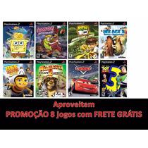 Madagascar 2 Infantil Ps2 (kit C/ 8 Jogos) Frete Grátis
